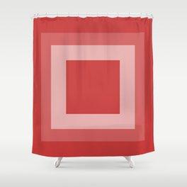 Reddish Square Design Shower Curtain
