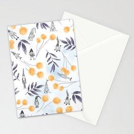 Gnome Magic Black And Orange Stationery Cards