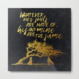 Wuthering Heights - Souls - Gold Foil Metal Print