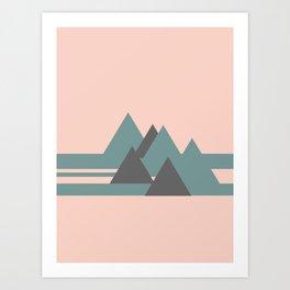 Peak Pink Grey Art Print