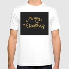 Merry Christmas n.4 White MEDIUM Mens Fitted Tee