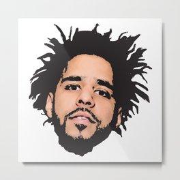 J Cole Metal Print