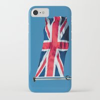 british flag iPhone & iPod Cases featuring Flying the British flag by PICSL8