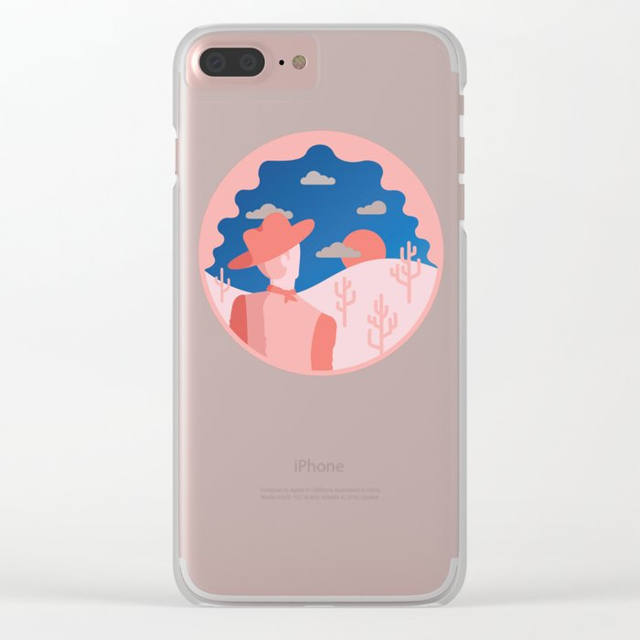 Whatcha looking for cowboy Clear iPhone Case