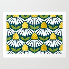 the daisies greet you Art Print