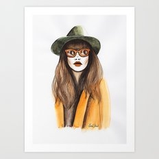 You can leave your hat on Art Print