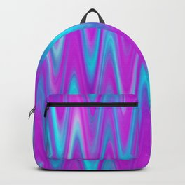 WAVY #1 (Purples, Violets & Turquoises) Backpack