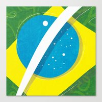 "brasil Canvas Prints featuring ""BRASIL"" by Alejandro Mamán Pires"