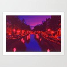 Psychedelic Amsterdam Art Print