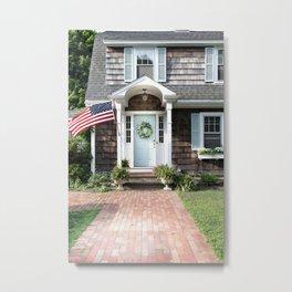 New England Cottage Metal Print
