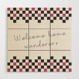 Welcome home Wood Wall Art