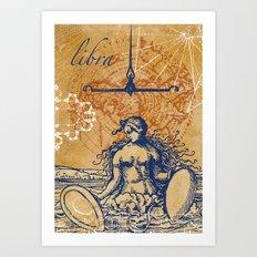libra | waage Art Print