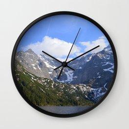 A Beautiful Day at Morskie Oko Wall Clock