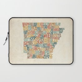 Arkansas by County Laptop Sleeve