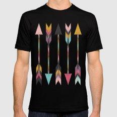 Bohemian Arrows-Pattern MEDIUM Mens Fitted Tee Black