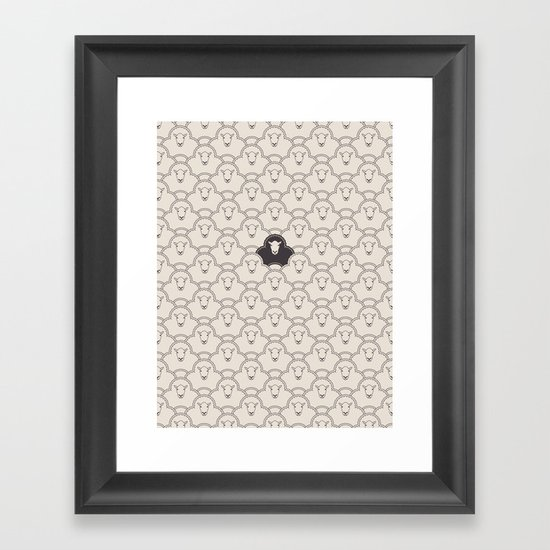 Black Sheep Framed Art Print