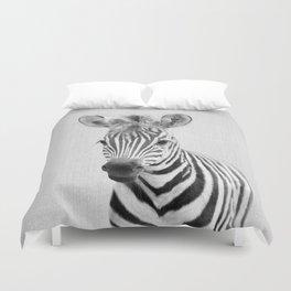 Baby Zebra - Black & White Duvet Cover