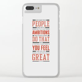 Lab No. 4 Keep Away From People Mark Twain Inspirational Quote Clear iPhone Case