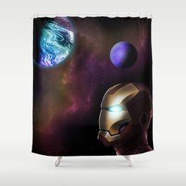 Iron Man Galaxy Shower Curtain