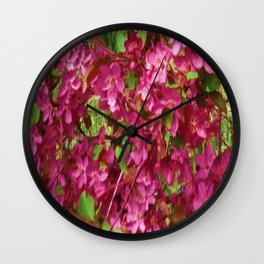 PINK CRABAPPLE SPRING MODERN ART Wall Clock