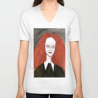 grace V-neck T-shirts featuring Grace by Kim Ly