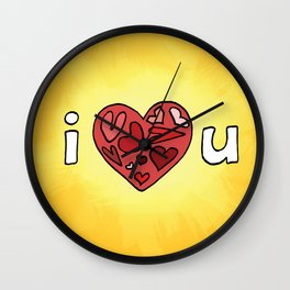 i heart u Wall Clock