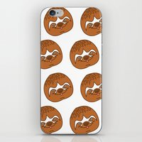 sloths iPhone & iPod Skins featuring So Many Sloths by tripinmidair