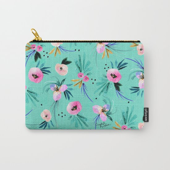 Calypso Floral Carry-All Pouch