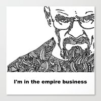 walter white Canvas Prints featuring Walter White by christoph_loves_drawing