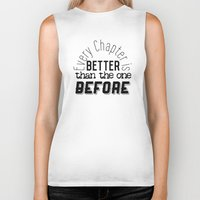 narnia Biker Tanks featuring Every Chapter is Better Than the One Before by Thg Fashion