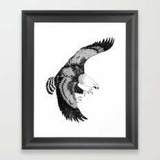 KING EAGLE Framed Art Print