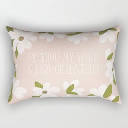 Be Thou My Vision Hand Lettered Floral Rectangular Pillow