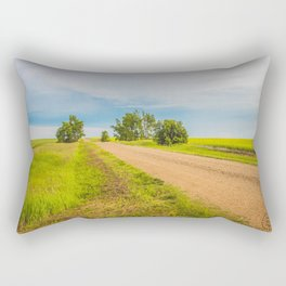 Backroads, North Dakota Rectangular Pillow