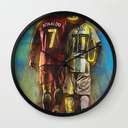 CristianoRonaldo & LeoMessi Wall Clock