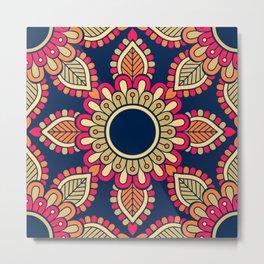 Mandala artwork, Colorful mandala flower No5 Metal Print