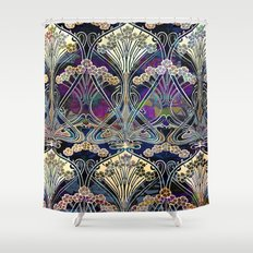 Art Nouveau Floral Pattern Shower Curtain