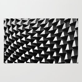 HOME DECOR,YOGA,iPHONE CASE,LAPTOP sleeve,BlackandWhite,Leggings,Geometrical,Unsymmetrical pattern Rug