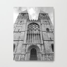 Southwell Minster Black and White Metal Print