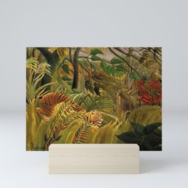 Tiger in a Tropical Storm - Surprised! by Henri Rousseau Mini Art Print
