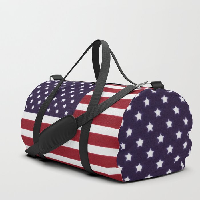 American flag with painterly treatment Duffle Bag