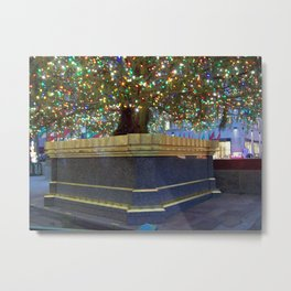 Rockefeller Center Christmas Tree Base Metal Print