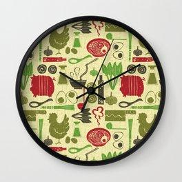 Let's enjoy cooking Ramen Noodle Honey Wall Clock