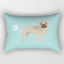 French Bulldog funny fart dog breed gifts frenchie must haves Rectangular Pillow