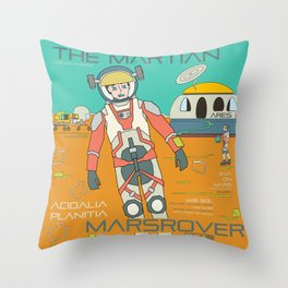 The Martian Throw Pillow