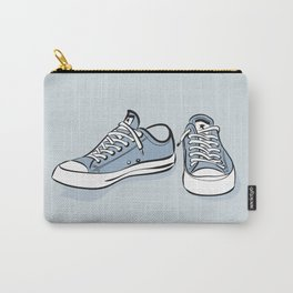 Grey Sneakers Carry-All Pouch