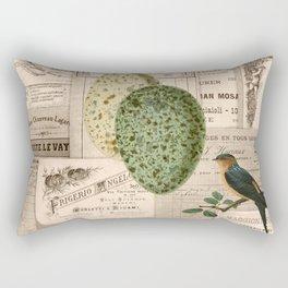 Vintage Birdsand Eggs Rectangular Pillow