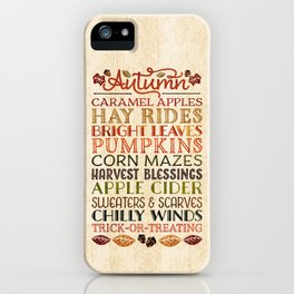 Autumn Fun iPhone Case