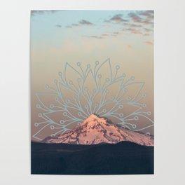 Mountain Mandala Poster