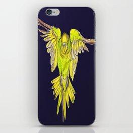 Flying Australian Budgie Bird Parakeet iPhone Skin