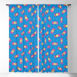 Avocados Lounging in the Pool Pattern Blackout Curtain